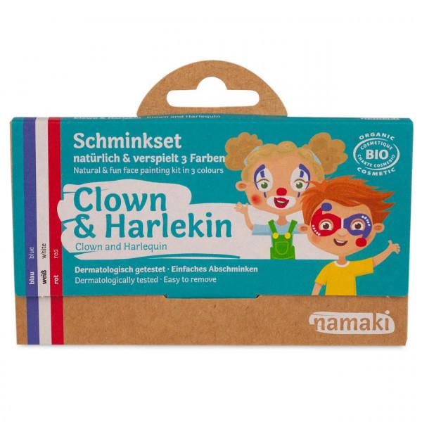 namaki - Bio Kinderschminke Clown & Harlekin 3 Farben