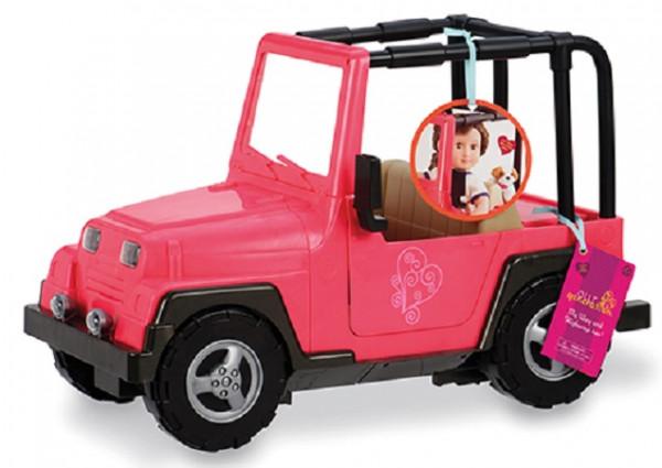 Our Generation - Jeep Auto rosa/braun