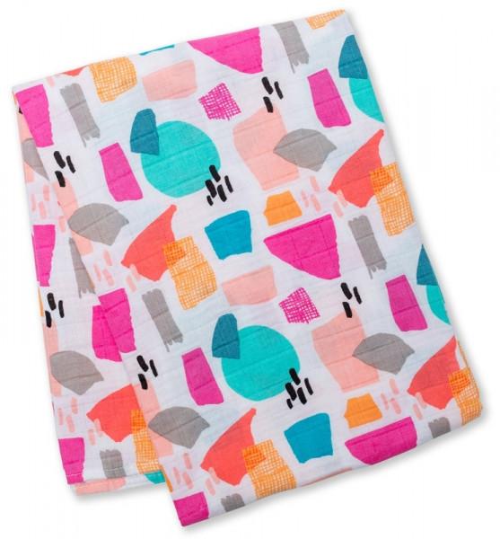 Lulujo - Muslin Swaddle Mulltuch - Paper Cut (Designer Collection)