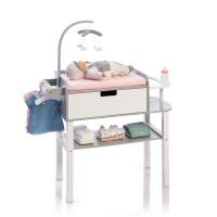 Musterkind - Puppen-Wickelkommode - Barlia grau/weiß