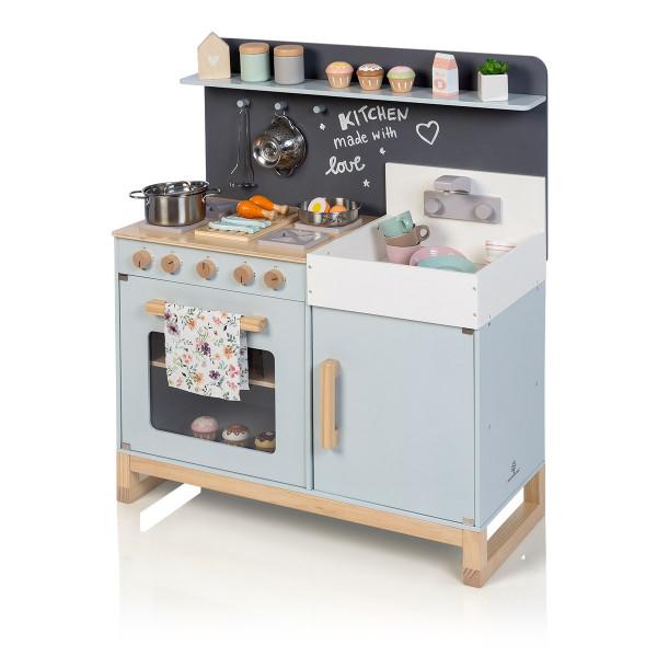 Musterkind - Spielküche LINUM graublau/natur