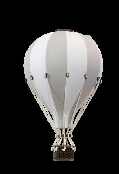 Super Balloon - Deko Heißluftballon hellgrau / weiß