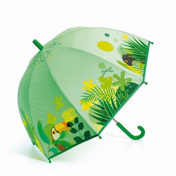 Djeco - Regenschirm Kinder Tropischer Dschungel