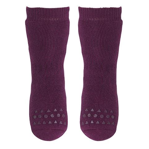 GOBABYGO - rutschfeste Socken pflaume