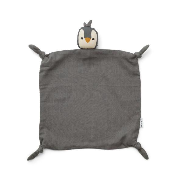 Liewood - Schmusetuch Agnete Penguin stone grey