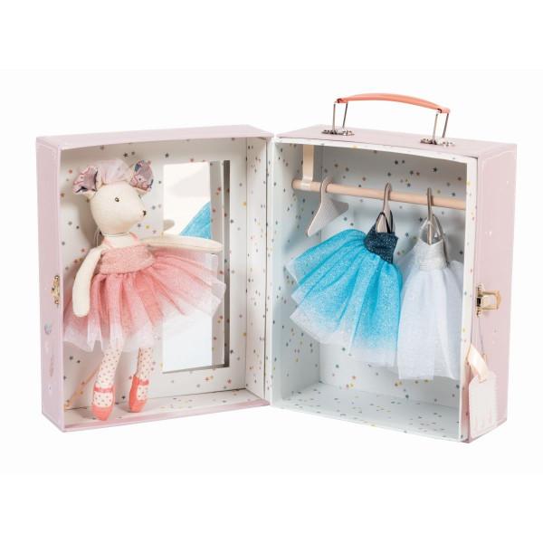 Moulin Roty - Koffer Maus Ballerina