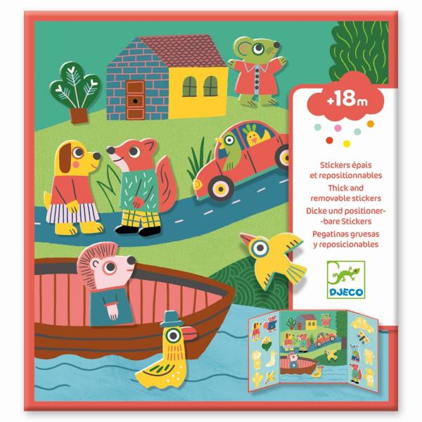 Djeco - Sticker Tiere