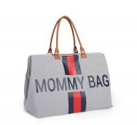 Childhome - Wickeltasche Mommy Bag grau/rot/blau
