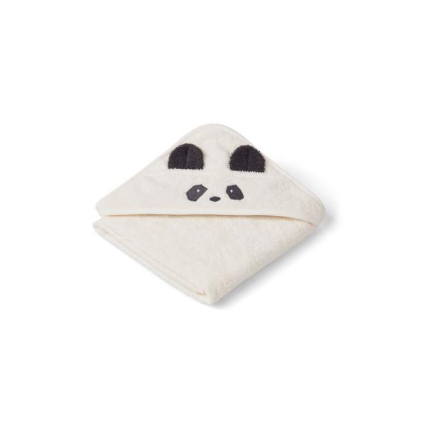 Liewood - Babyhandtuch mit Kapuze Panda creme ce la creme