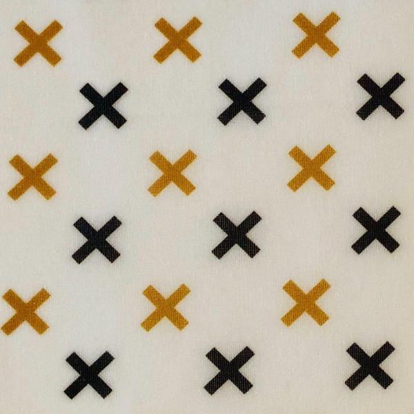 Speisekleid - Bienenwachstuch Kreuze