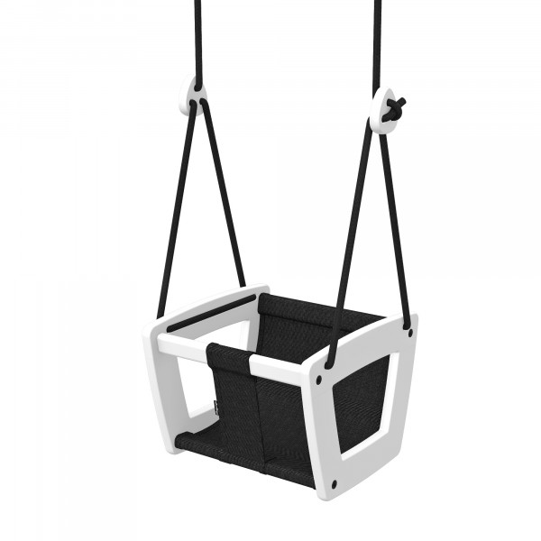 Lillagunga - Toddler White Birch - Black Dice - schwarze Seile