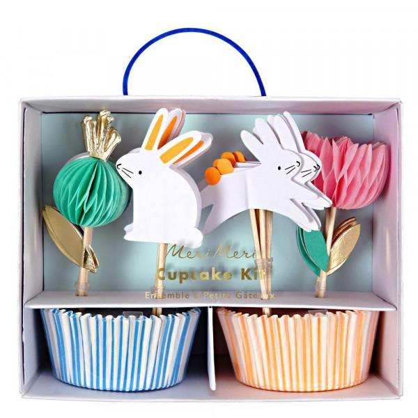Meri Meri - Cupcake Set - Honeycomb Bunny