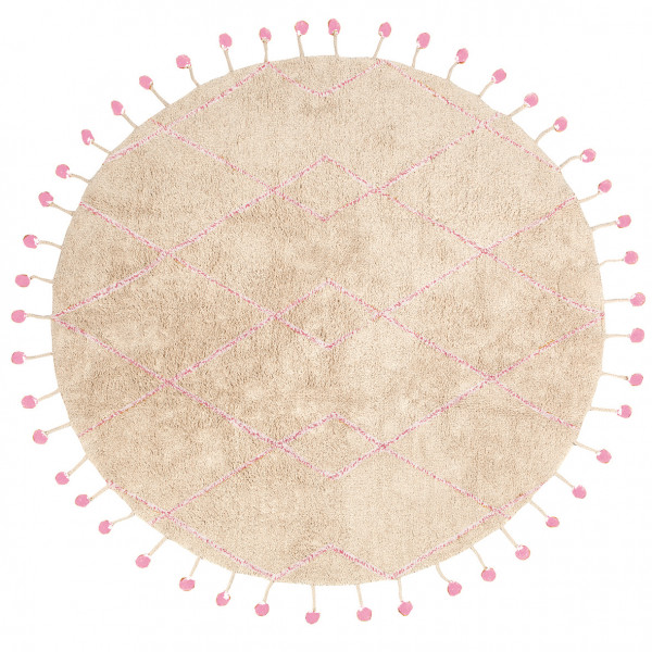 Nattiot - Kinderteppich TANVI (naturel/rose)