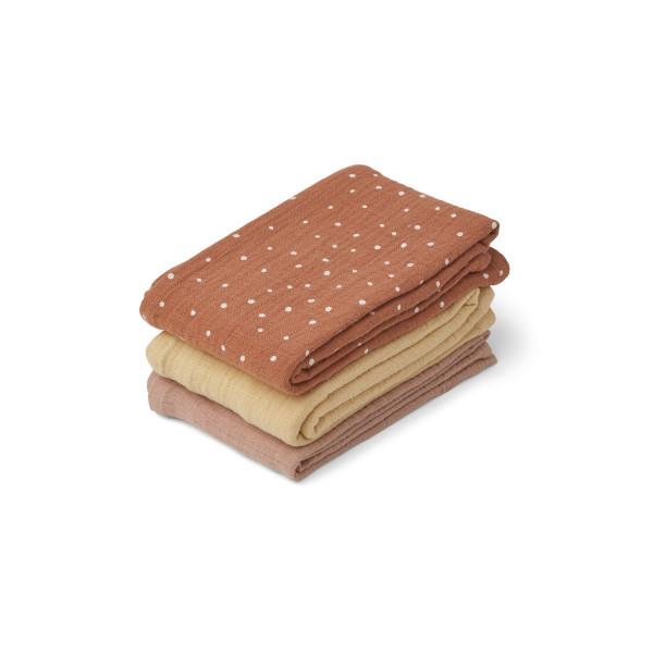 Liewood - Musselintücher 3er Set confetti terracotta mix