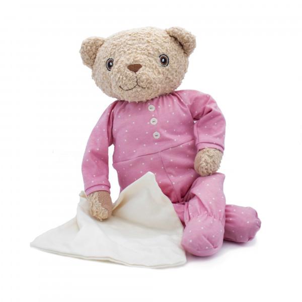 Hugzzeee - Kuscheltier Teddy rosa