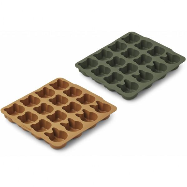 Liewood - Eiswürfelform 2er-Pack green/mustard
