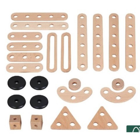 MaMaMeMo - Konstruktions-Set 24-teilig aus Holz