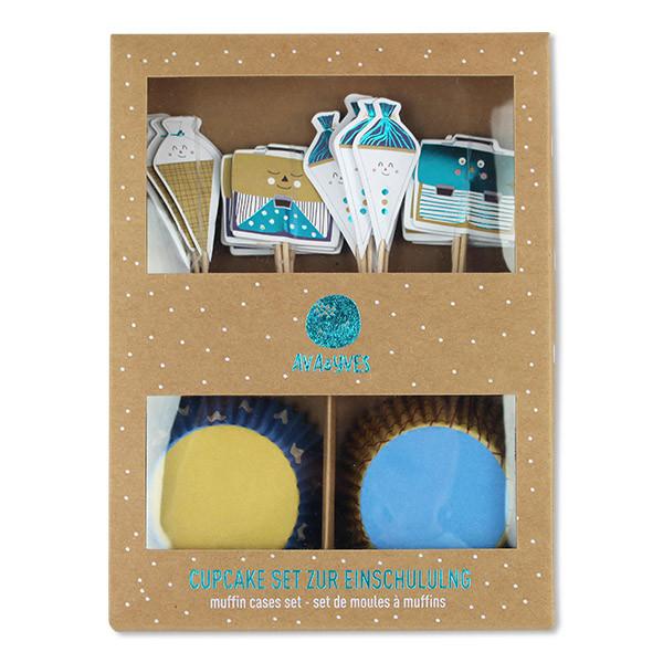 ava&yves - Cupcake-Set zur Einschulung