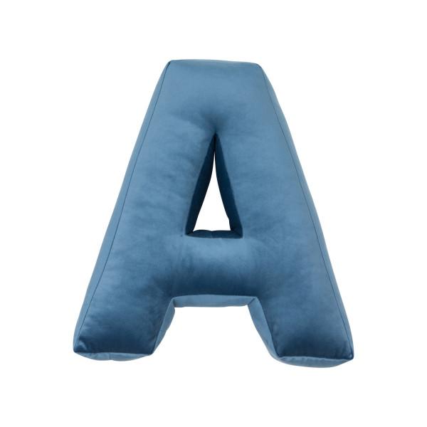 Betty's Home - Samtkissen Buchstaben A-Z blue