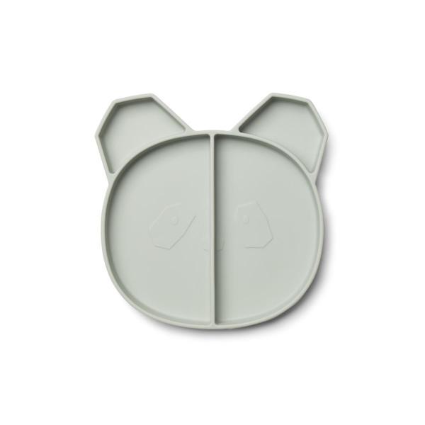 Liewood - Silikonteller Maddox panda dusty mint
