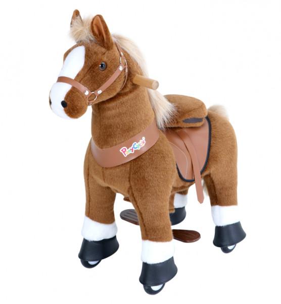PonyCycle - Plüschpferd mit Sound braun