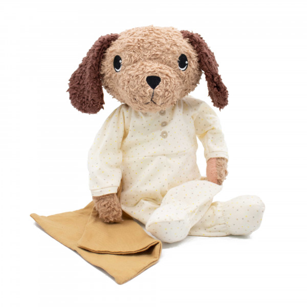 Hugzzeee - Kuscheltier Hund creme