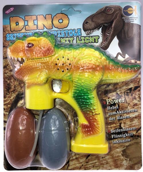 """Fun Trading - Seifenblasenpistole """"Dino"""" mit Licht und Sound"""