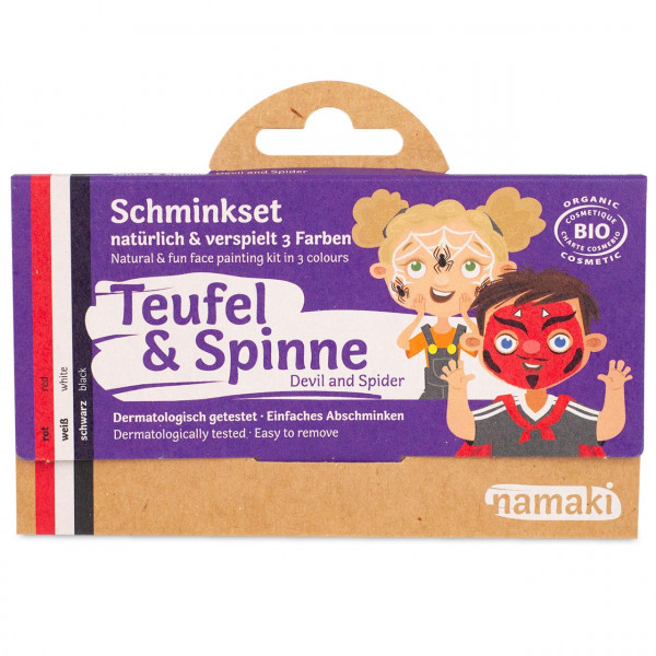 namaki - Bio Kinderschminke Teufel & Spinne 3 Farben