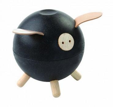 Plan Toys - Spardose Schwein schwarz