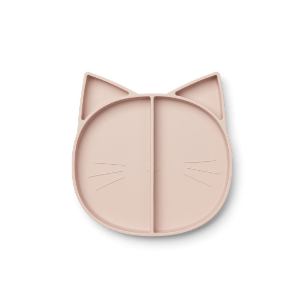 Liewood - Silikonteller Maddox cat rose