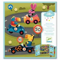 Djeco - Sticker Autos