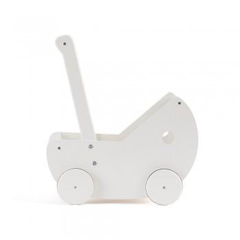 Kids Concept - Puppenwagen mit Bettwäsche weiß