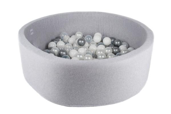 MiniBe - Bällebad hellgrau in verschiedenen Ausführungen