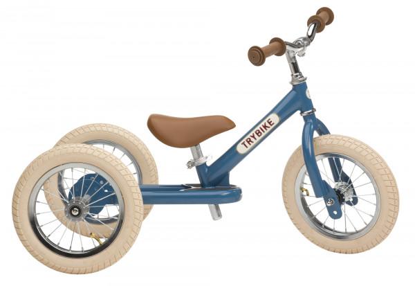 TRYBIKE - Dreirad/Laufrad Steel Vintage blau 2 in 1
