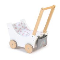 Musterkind - Puppenwagen BARLIA weiß/natur