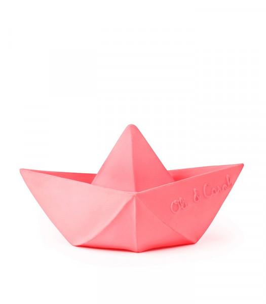 "Oli&Carol - Badespielzeug ""Origami Boat"" pink"