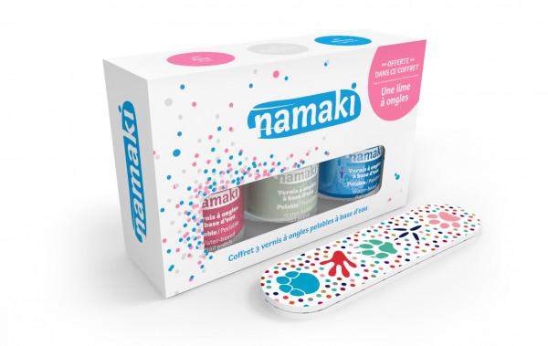 namaki - wasserbasierender Bio Nagellack 3er Set