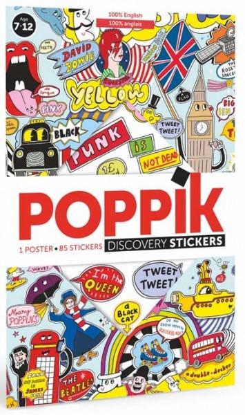 Poppik - Stickerposter Discovery 100% Englisch
