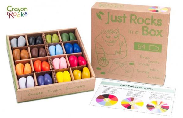 Crayon Rocks - Wachsmalsteine 64er Set 16 Farben