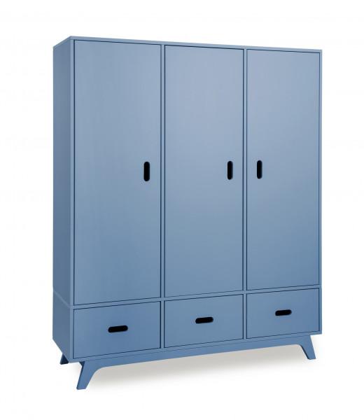 MIMM - Kleiderschrank 3türig blau