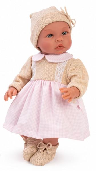 Asi Coleccion - Puppe Leo Rosa Kleid 46 cm