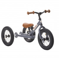 TRYBIKE - Dreirad/Laufrad Steel grey 2 in 1