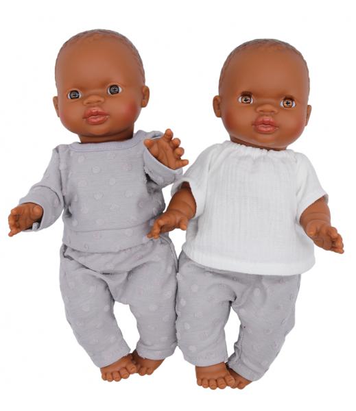 Lalou - Puppenkleidung Mädchen Set 3 Hose/Pullover