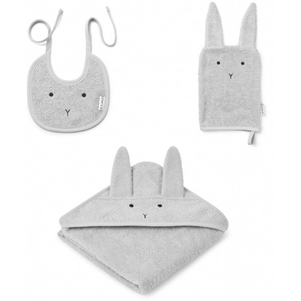 Liewood - Babyset 3-teilig Adele Terry Rabbit grey