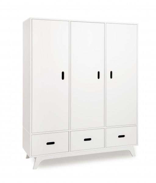 MIMM - Kleiderschrank 3türig weiß