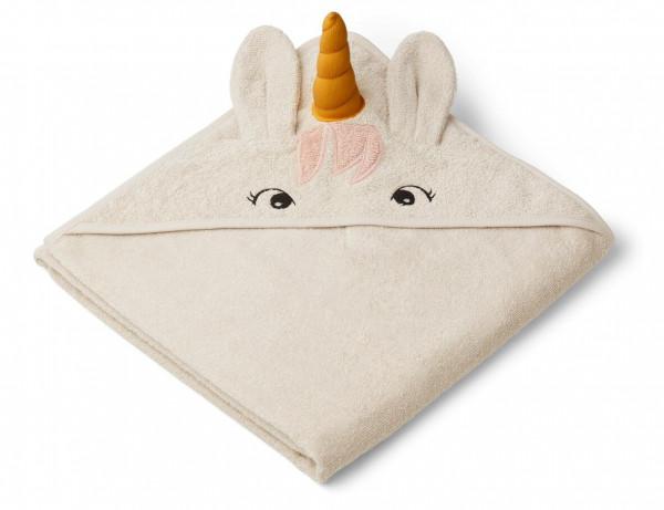 Liewood - Handtuch mit Kapuze Augusta unicorn sandy
