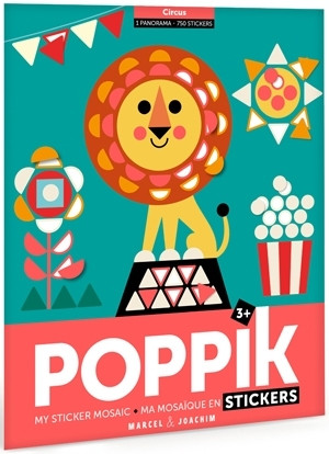Poppik - Stickerposter Panorama Zirkus