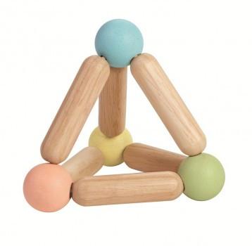 Plan Toys - Babyspielzeug Pyramide pastell