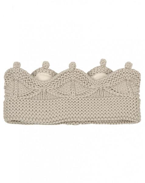 MINI A TURE - Haarband Cinni Merinowolle Grau
