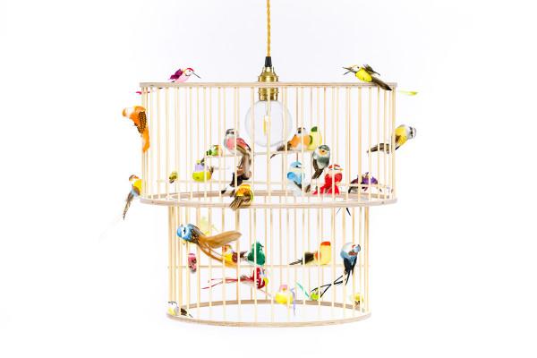 Lakaluk - Lampe doppelter Vogelkäfig
